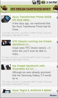 Screenshot of Ice Cream Sandwich News