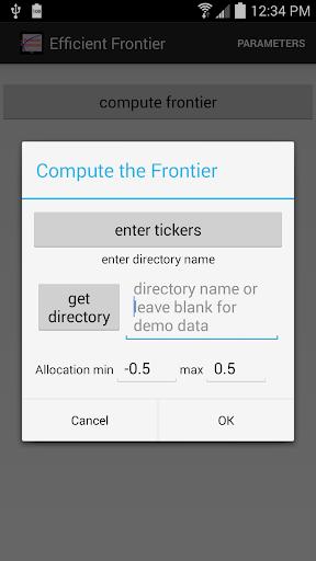 Efficient Frontier Portfolios