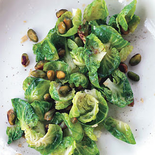 Sauteed Brussels Sprouts with Lemon and Pistachios