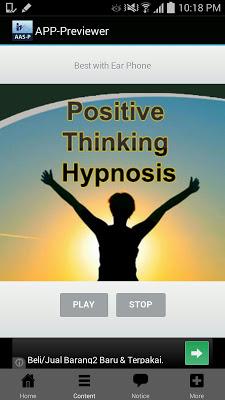 Positive Thinking Hypnosis - screenshot