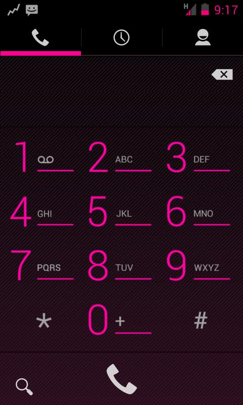 TESLA PINK CM / AOKP THEME - screenshot