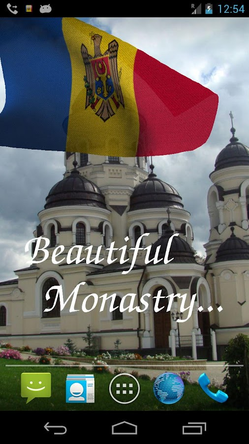 3D Moldova Flag LWP - screenshot