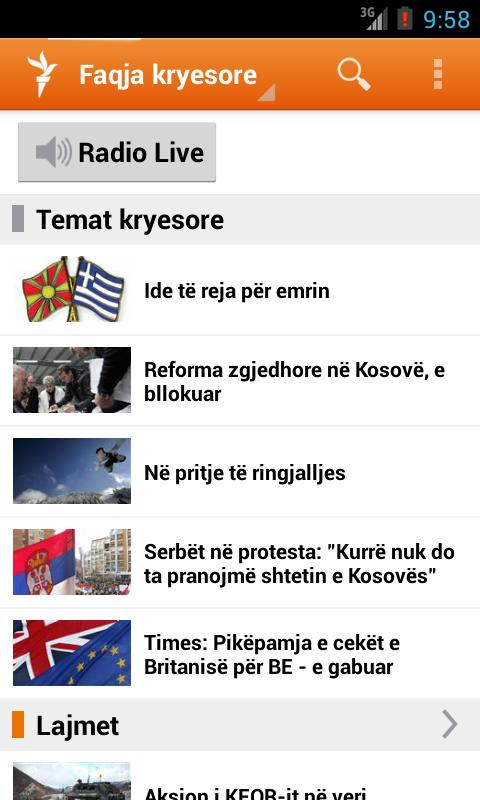 Radio Evropa e Lirë - screenshot