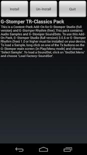 G-Stomper TR-Classics Pack- screenshot thumbnail