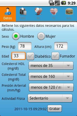 TWR Health Calculator- screenshot