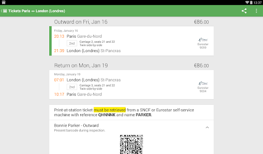 Trainline EU (Captain Train) Screenshot 26