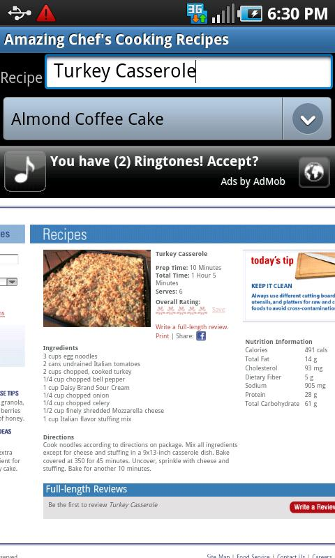 Awesome Chef's Cooking Recipes- screenshot