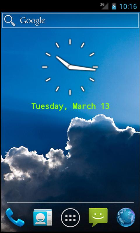 Clean Clock Widget - screenshot