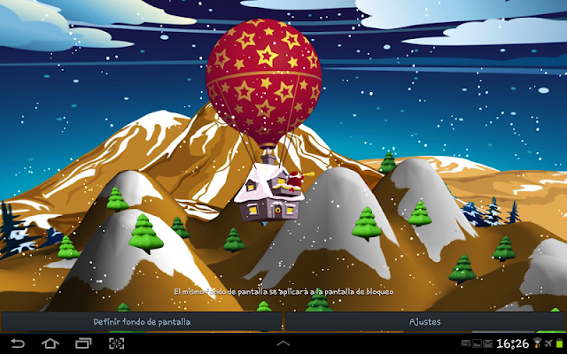 3D Santa Claus Live Wallpaper - screenshot
