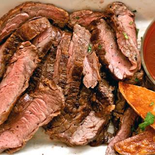 Skirt Steak with Homemade Steak Sauce
