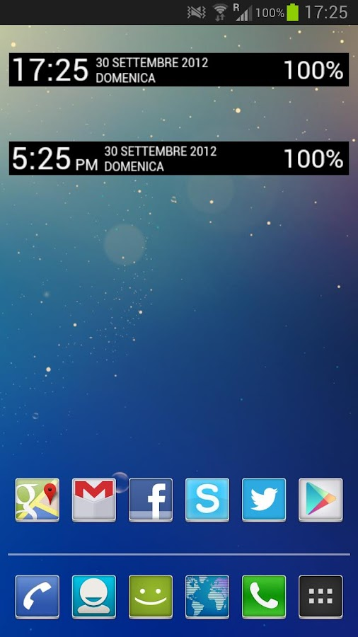 Jelly Bean Clock Widget UCCW - screenshot