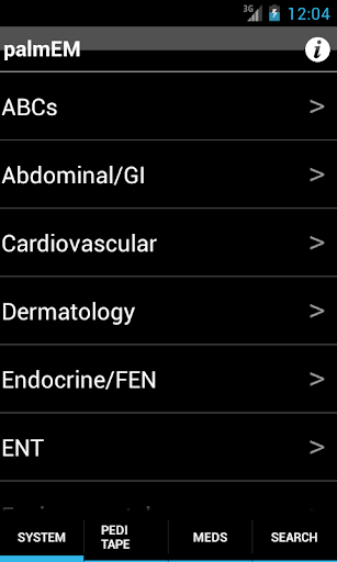 palmEM: Emergency Medicine screenshot
