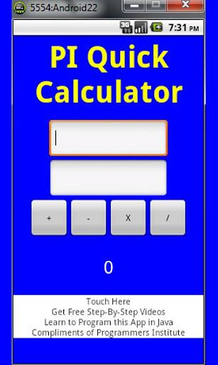 PI Quick Calculator