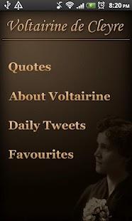 Voltairine Quotes - screenshot thumbnail