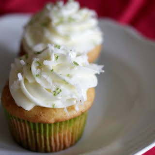 Coconut-Lime Cupcakes.