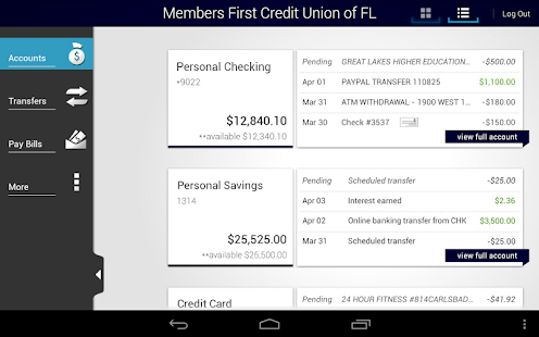 Members First Credit Union FL - screenshot thumbnail