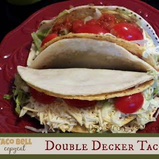 Taco Bell Double Decker Taco Copycat.