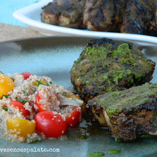 Spiced Lamb Chops with Cilantro Chutney Recipe