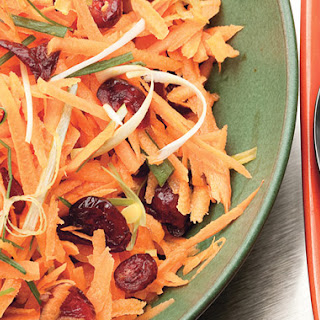 Carrot and Cranberry Salad with Fresh Ginger Dressing