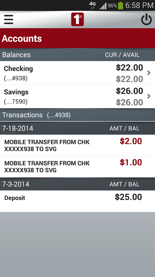 FNB Burleson Mobile Banking - screenshot