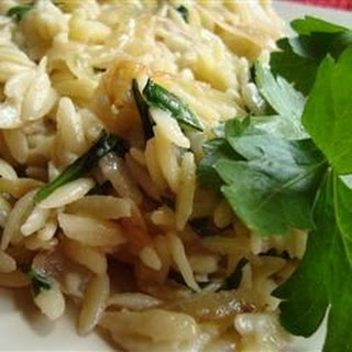 Caramelized Onion and Blue Cheese Orzo