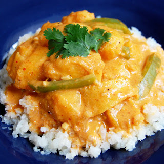 Vegetarian Thai Red Curry with Squash.