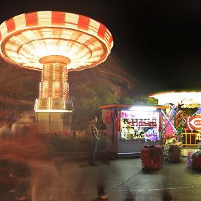 Time Stands Still.... by Martin Wheeler - Digital Art Places ( rides, amusementpark, kingsisland, movement, parks, cincinnati,  )