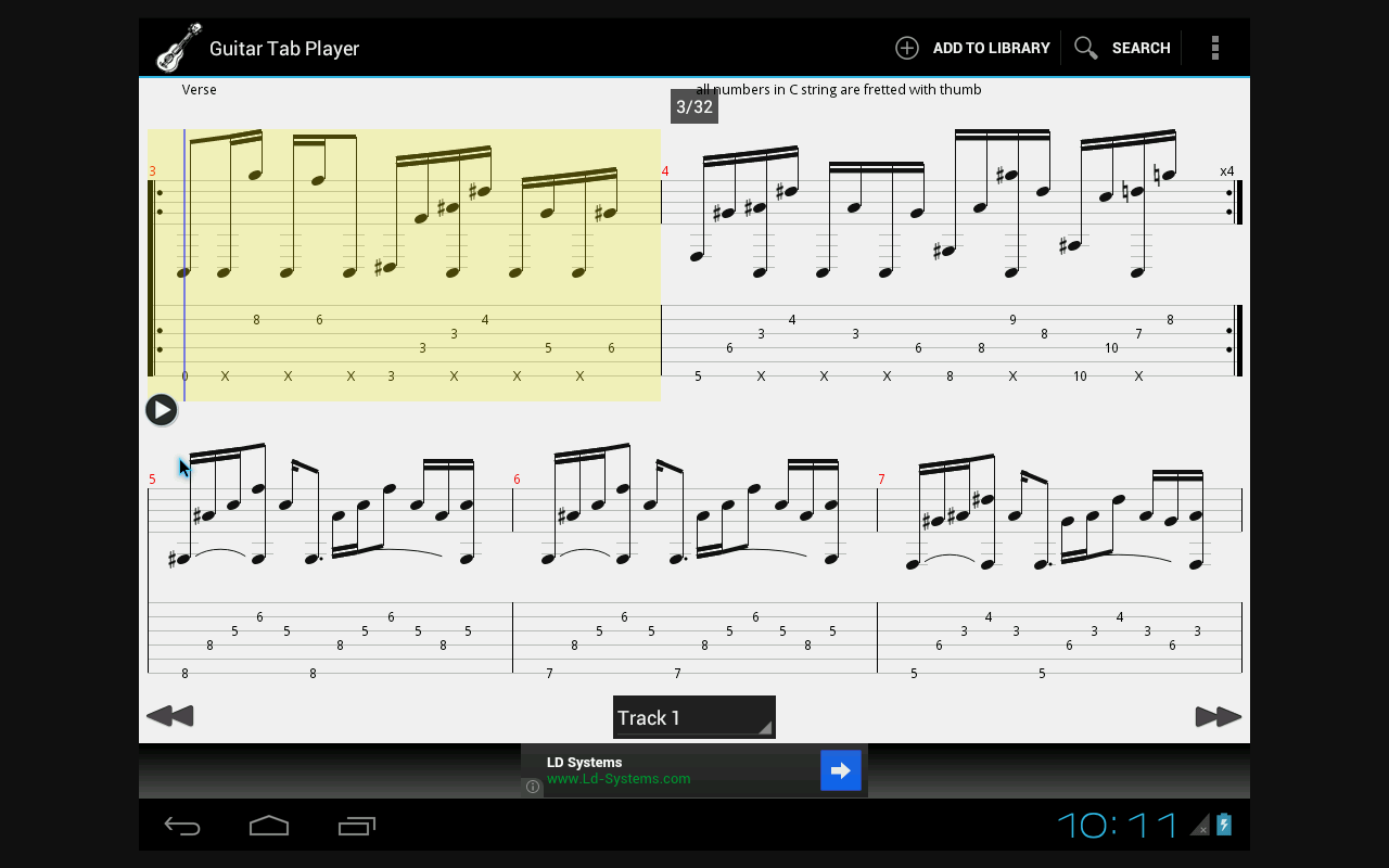 Guitar tab player android apps on google play guitar tab player screenshot hexwebz Image collections