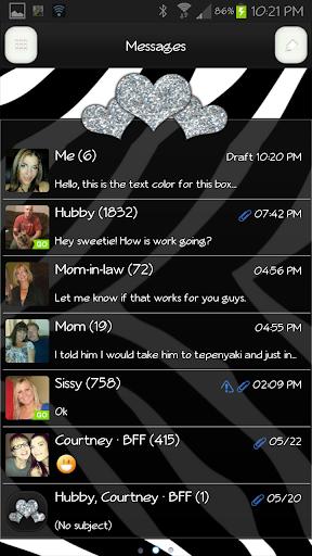 GO SMS - Heart Bliss 10