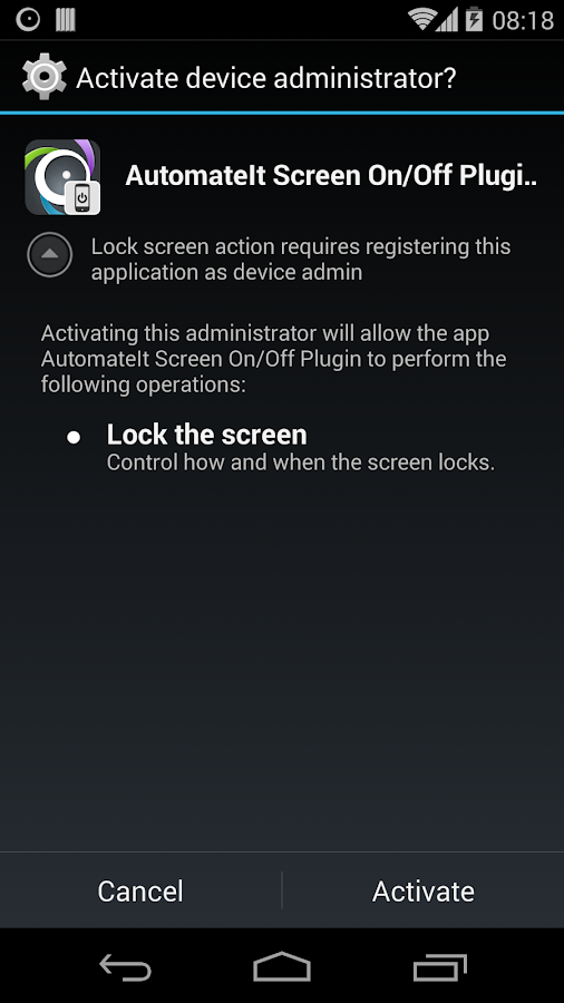 AutomateIt Screen On-Off&Lock- screenshot