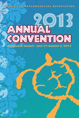 APA 2013 Convention