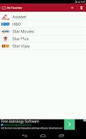 Screenshot of TV Guide India
