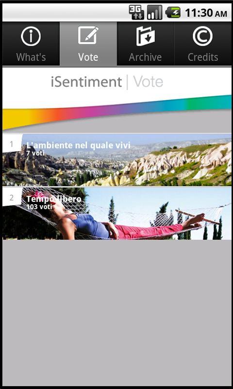 iSentiment- screenshot