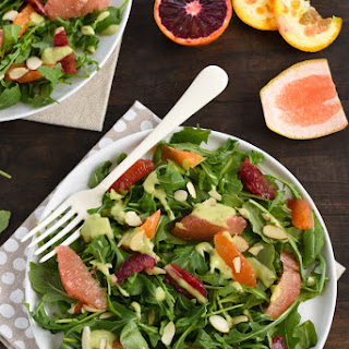 Winter Citrus Salad with Avocado-Basil Dressing