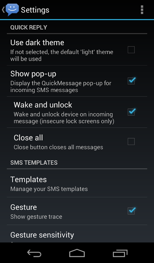 8sms (Stock Messaging, KitKat) - screenshot