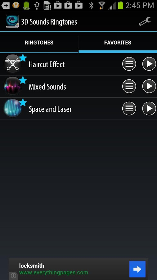 3D Sounds Ringtones - screenshot