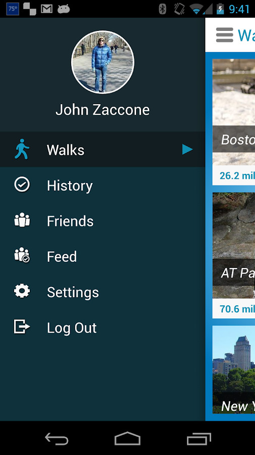 Virtual Walk Treadmill or GPS - screenshot