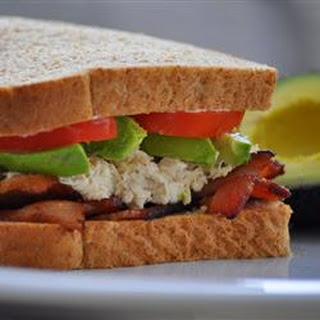 Tuna, Avocado and Bacon Sandwich.