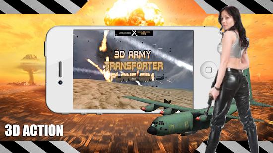 3D Army Transporter Plane Sim