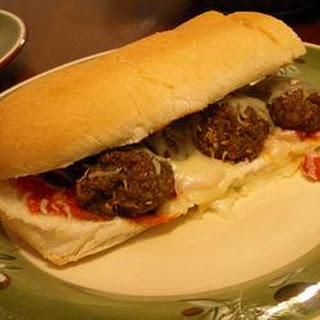 Microwave Meatball Sandwich in Ten Minutes.