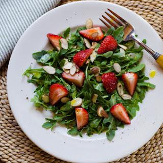 Arugula Strawberry Salad with Meyer Lemon Vinaigrette.