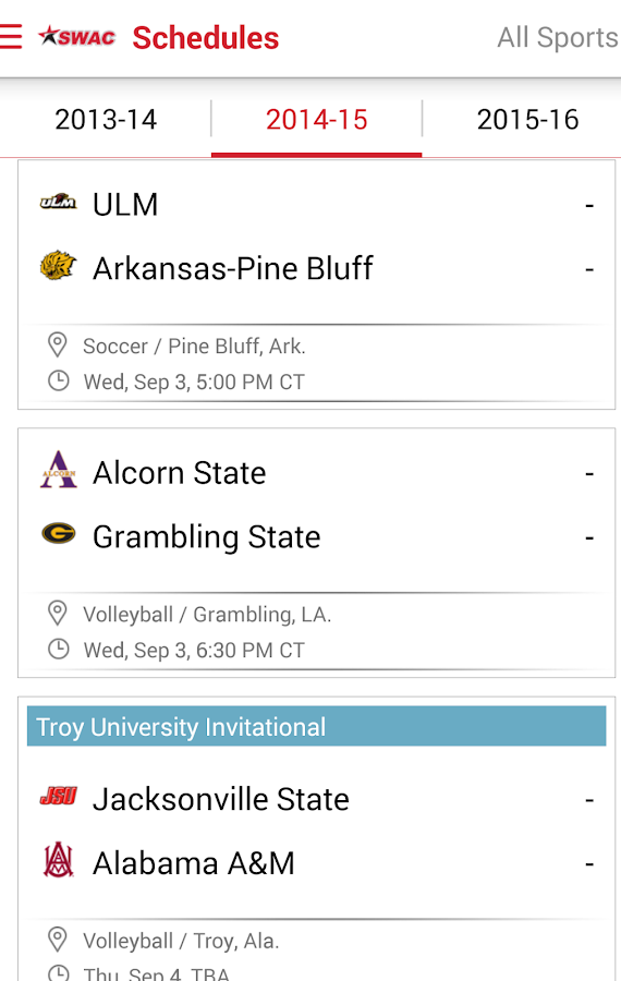 SWAC Sports: Free- screenshot