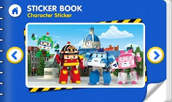 Screenshot of Robocar Poli - Sticker Book 1