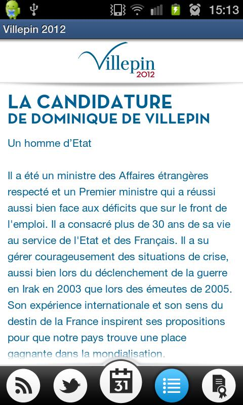 Villepin 2012 - screenshot