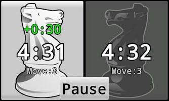 Screenshot of Chess Clock App
