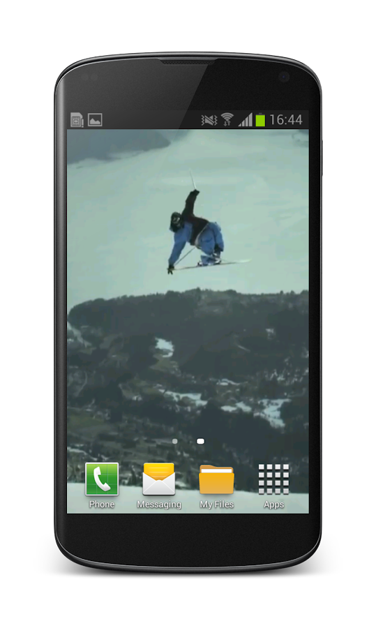 Freestyle Skiing Wallpaper 3D - screenshot