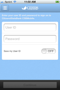 CitizensStateBank CSB Mobile - screenshot thumbnail