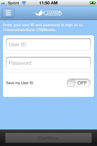 CitizensStateBank CSB Mobile - screenshot