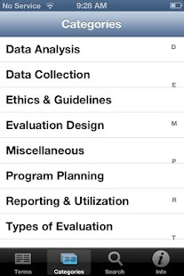 Evaluation Glossary- screenshot thumbnail