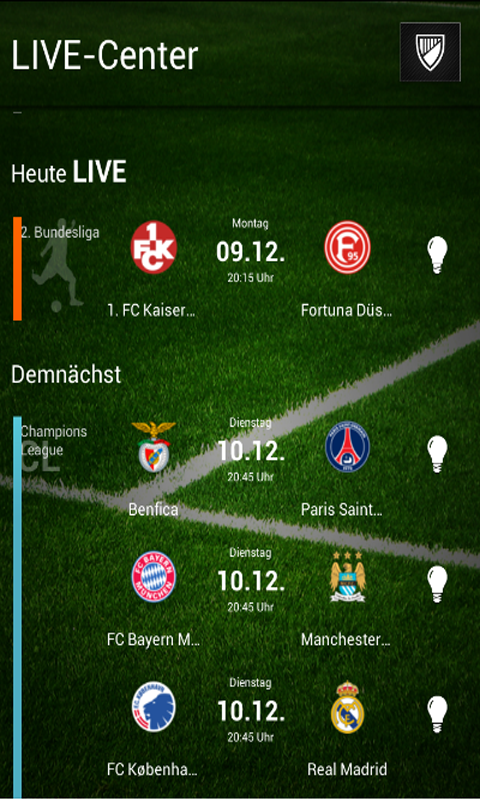 Fussball Live Ticker Herzrasen - screenshot